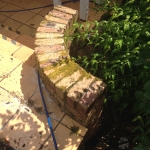 Eumundi brick wall cleaning - before