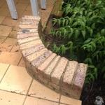 Eumundi brick wall cleaning - after