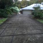 Concrete driveway -Bli Bli- before
