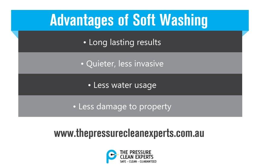 advantages of soft washing