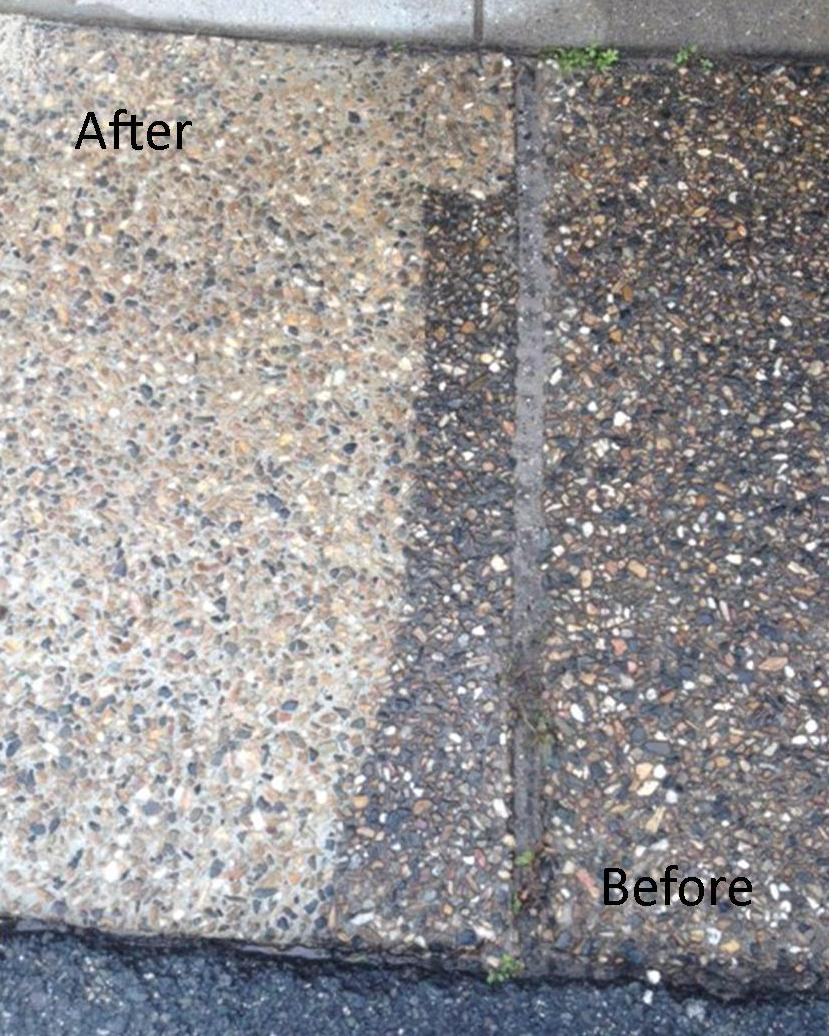Aggregate path pressure clean