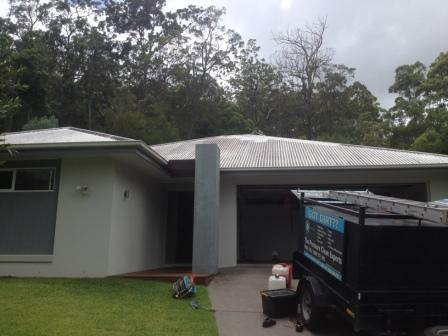Roof cleaning in Buderim - before