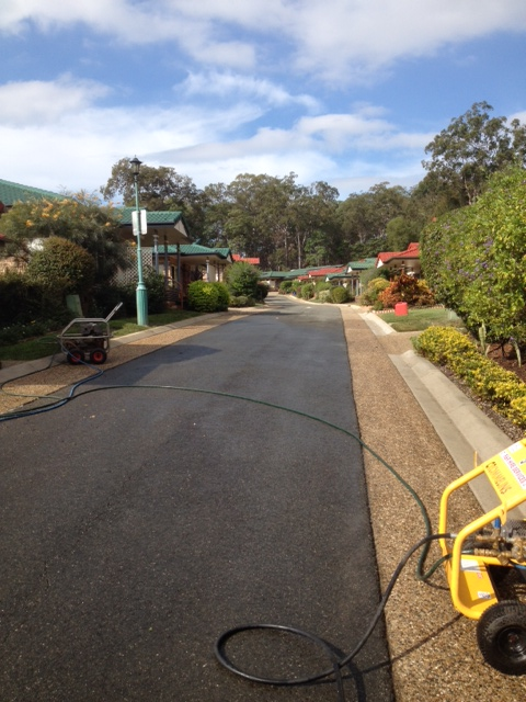 Retirement village pressure cleaning