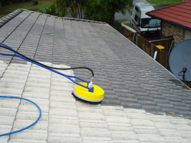 Roof clean with whirlaway