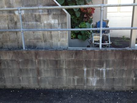 Nambour Block-wall pressure clean-before