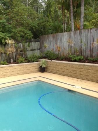 Buderim Pressure clean Block Wall-after