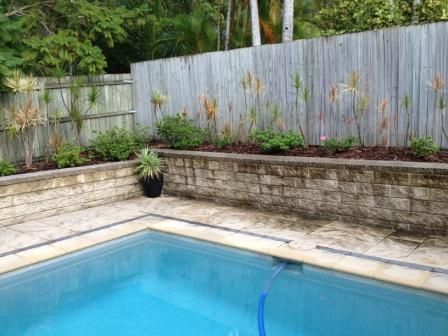 Buderim Pressure clean Block Wall-before