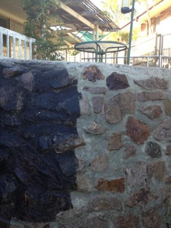 Mudjimba Rock Wall Cleaning