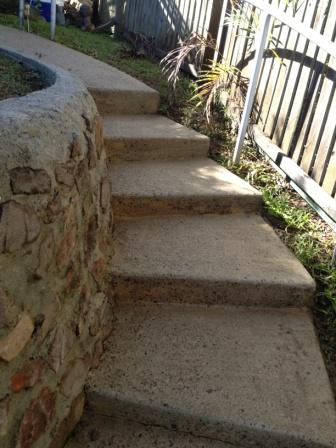 Woombye Pressure clean Steps-after