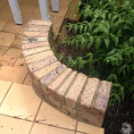Eumundi brick wall cleaning - after