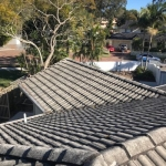 Old tile roof before