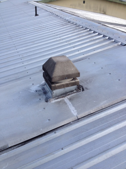 Roof vent cleaning