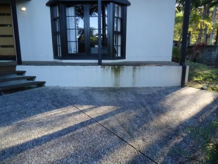 House wash driveway clean before