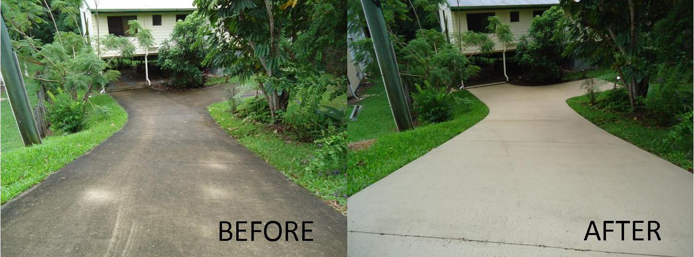 High Pressure Concrete Driveway Cleaning Sunshine Coast