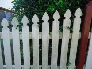 BEFORE - Cleaning Picket Fences on the Sunshine Coast