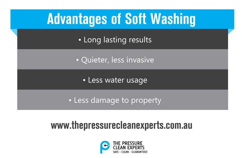 advantages of soft washing