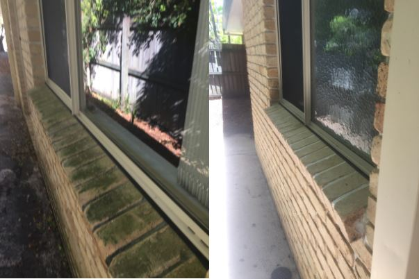 soft washing exterior surfaces before and after