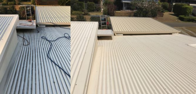 soft washing roofs before and after