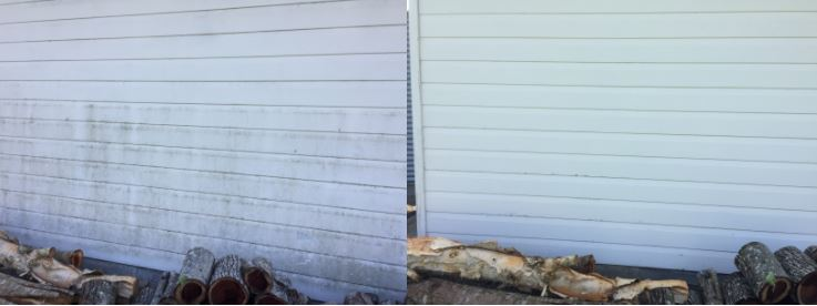 soft washing walls before and after