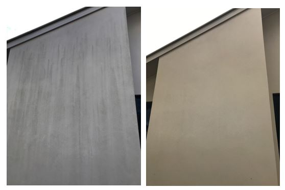 wall wash before and after