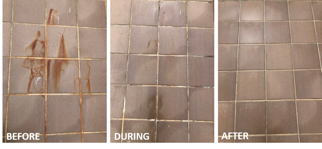 pressure clean results before and after